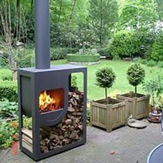 Outdoor Wood Burning Stove I Wounded If This Would Work Inside With A Brick Surround