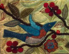 bird appliqué quilt detail