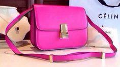 Celine Classic Box Flap Bag Calfskin Leather C2263 Rose