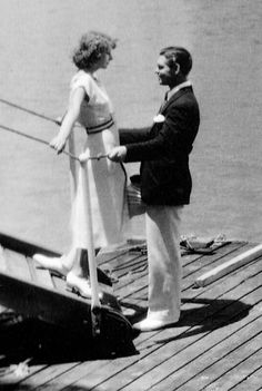 Greta Garbo and Clark Gable on the set of Susan Lenox: Her Rise and Fall, 1931