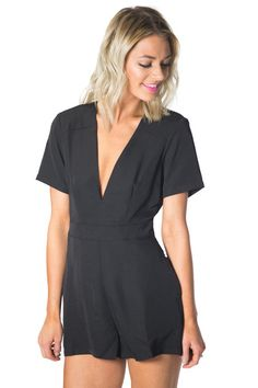 Summer Fling- Black Romper