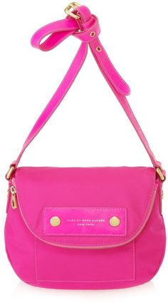 Bright Marc Jacobs crossbody bag.
