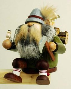 This beautiful incense smoker was handcrafted in the Erzgebirge village of Olbernhau, Germany by KWO.The detailed piece features the sitting lumberjack.This new smoker is approximately inches tall Christmas In Germany, German Christmas, Christmas Art, Christmas Decorations, Nutcracker Christmas, Incense, Nutcrackers, Smokers, Ebay