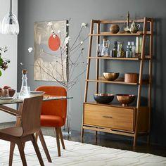 Mid-Century Bookshelf - Tall Wide Woodworking Table Plans, Ladder Bookcase, Shelves, Home Decor, Shelving, Homemade Home Decor, Interior Design, Decoration Home, Home Interiors