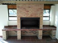 Building my own braai - need input on chimney design Built In Grill, Chimney Design, Outdoor Kitchen Design, Flipping Houses, Outdoor Rooms, New Homes, Outdoor Fireplace, Diy Backyard Landscaping, Built In Braai
