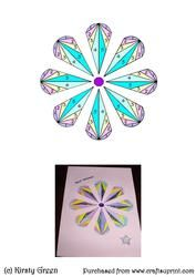 Iris Folding Stained Glass Flower Pattern