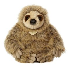 Life is beautiful and Miyoni's Realistic Stuffed Sloth 12 Inch Plush Animal by Aurora is an inspiring and cuddly representation of one of the world's most precious animals. This amazingly detailed plush sloth is a winsome and unique addition to any toy Jungle Animals, Plush Animals, Stuffed Animals, Three Toed Sloth, Love Statue, Fluffy Coat, All Toys, Plush Dolls, Mini