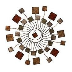 Decmode Contemporary 32 Inch Abstract Metal Sunburst Wall Decor, Size: x Brown Sunburst Wall Decor, Sun Wall Decor, Modern Wall Decor, Metal Wall Decor, Abstract Metal Wall Art, Metal Art, Abstract Art, Metal Wall Sculpture, Wall Sculptures