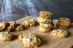 Easy Paleo ANZAC Biscuit Recipe. Add an egg to bind mixture better.