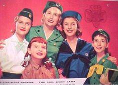 Girl Scout 1958 calendar