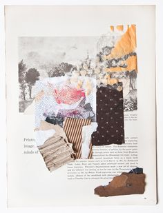 Inspiration for displaying product or fabric swatches Évora | collage by Kike Besada