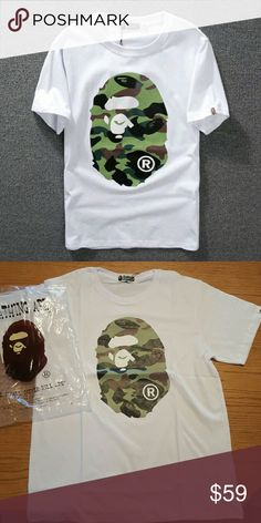a330bca7 A Bathing Ape Bape Shirt Tee White Camo Brand new In original Bag With tags Bape  Shirts Tees - Short Sleeve