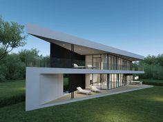 Individual modern Architectural design and concepts. Triangular Architecture, Architecture Plan, House Outside Design, Small House Design, House Construction Plan, Modern House Facades, Modern Houses, Triangle House, Modern Villa Design