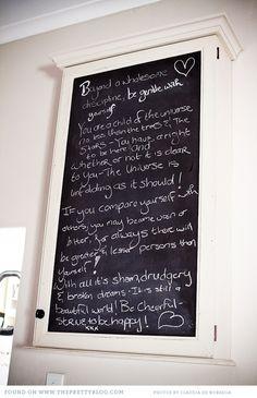 Blackboard note board