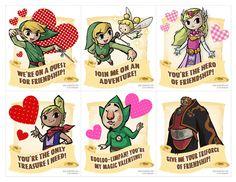 printable zelda valentine cards