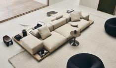 Lissoni & Partners   Piero Lissoni   Product   B&B   Dock   Sofa Italian Furniture, Home Furniture, Furniture Design, B & B, B&b Italia Sofa, Home Room Design, House Design, Sofa Design, Interior Design