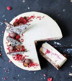 nice coconut and raspberry cake
