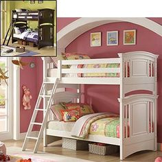 @Shanel Smith what do you think of this bunk for Treys room? Obviously in brown and then I will put Trey's bed in Boston's new room?