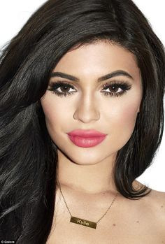 Beauty: The Keeping Up With The Kardashians star wore her own 'Kylie' necklace...