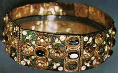 The Iron Crown, different view showing the enameling detail.