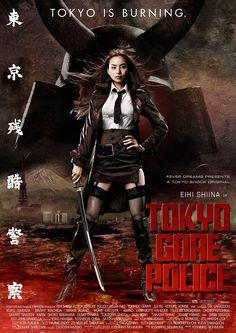 """FILME: Tokyo Gore Police SINOPSE: Em um futuro próximo, a polícia do Japão foi privatizada e organizada em corporações. Uma espécie de força munida de mutantes geneticamente modificados vagam pelas ruas, perseguindo e assassinando brutalmente os seres humanos. Ruka é a chefe implacável do departamento de polícia, que apesar de possuir um passado que a atormenta, está disposta a caçar as criaturas chamadas de """"engenheiros"""" e então encontrar e destruir o misterioso Key-man."""