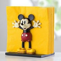 Brand NEW Disney Store Mickey Mouse Napkin Holder Disney's Mickey Mouse Napkin Holder will be a delightful addition to yourkitchen. With outstretched arms, our vintage-style Mickey is ready tokeep yo. Cozinha Do Mickey Mouse, Mickey Mouse Mug, Mickey Mouse House, Mickey Mouse Kitchen, Mickey Mouse And Friends, Mickey Minnie Mouse, Mickey Mouse Bathroom, Disney Kitchen Decor, Disney Home Decor