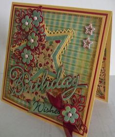 ink'n'rubba created with Marianne Design Garden Party papers PK9108, and various dies including star CR1226 and Birthday COL1349