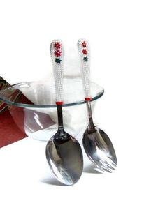 Christmas Salad Serving Set. Red White Green Salad's by efiwarsh, $33.00