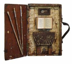Reliquary 1 is not a book but rather a mixed media assemblage by Lori K. Gordon, made from items salvaged from the detritus of Hurricanes Katrina and Gustav.