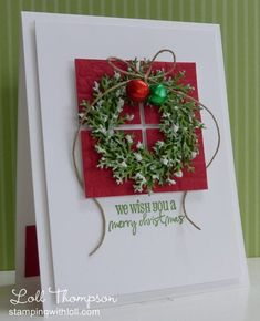 Snowy Wreath - QFTD178 by Loll Thompson - Cards and Paper Crafts at Splitcoaststampers