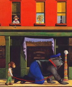 (UK) Gorilla, Willy's Pictures by Anthony Browne (1946-   ).