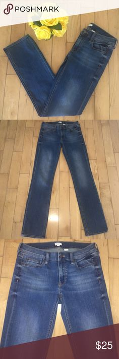 "J. Crew Stretch Jeans Medium wash jeans. Material: cotton, polyester, and elastane. Dimensions: 38"" long, 30"" inseam, and 14"" across front waist. No Trades. Bundle and save 10%. PLEASE NOTE: I am happy to consider offers but I block lowball users(25% and higher offers), thank you. J. Crew Jeans Straight Leg"