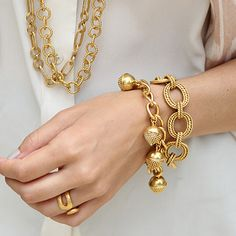 Julie Vos acorn charm bracelet