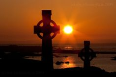 A beautiful shot of Celtic crosses in Connemara, Co. Galway, photographed by John Smyth.