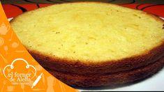 Bizcocho Rápido con yougurt, es fácil y lo podeis elaborar para hacer cualquier pastel.