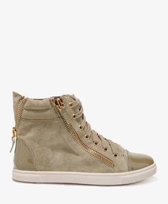 F21  Zippered Patent Sneakers