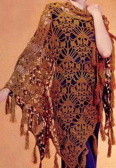 Beautiful Crochet Shawl: free chart