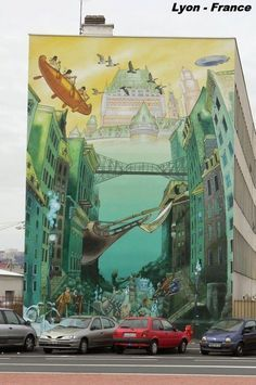 Peintures sur façade - Lyon
