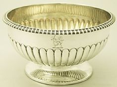 A very fine antique George III English sterling silver bowl; part of our ornamental / dining silverware collections