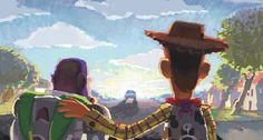 Disney and Pixar Concept Art - Toy Story 3 Disney Pixar, Deco Disney, Animation Disney, Art Disney, Disney Kunst, Disney Love, Disney Magic, Disney Collage, Pixar Concept Art