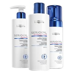 Buy L'Oreal Professionnel Serioxyl Kit 2 For Coloured Thinning Hair (615ml) , luxury skincare, hair care, makeup and beauty products at Lookfantastic.com with Free Delivery.