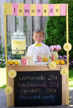 The Lemonade Stand DIY- I am extremely tempted to throw a Lemonade Stand Party after looking at this!