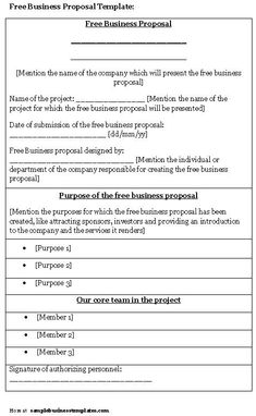 writing a proposal template