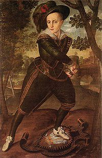 Prince Henry Stuart, c.1608, by Robert Peake the Elder. Son of James VI and I and Anne.
