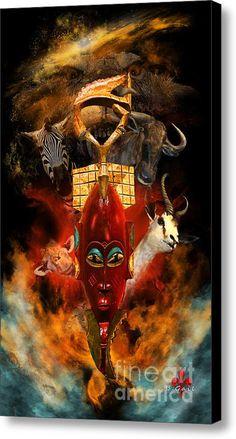 The Mask Canvas Print / Canvas Art By Barbara Hebert