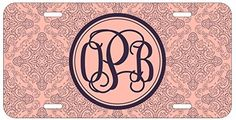 Personalized Monogrammed Damask Pink Purple Vine License Plate Auto Tag Top Craft Case http://www.amazon.com/dp/B00OMQDWUS/ref=cm_sw_r_pi_dp_.uotub0TFRZ4Z