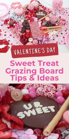 Easy tips for how to create a tasty Valentine's Day Dessert Grazing Board that will surely make party guests fall in love! Get details now at fernandmaple.com!