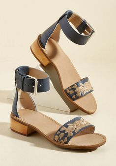 Midday Marvelous Leather Sandal | ModCloth