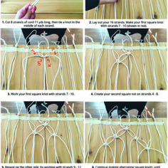 Inspiration In The Making Macrame Patterns, Loom Patterns, Garden Party Wedding, Loom Knitting, Boho Style, Table Runners, Nest, Backdrops, Household