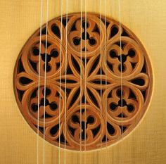 """This is called the """"rose"""" of a lute. Renaissance Music, Medieval, Guitar Building, Guitar Design, Wood Veneer, Musical Instruments, Wood Art, Baroque, Woodworking Projects"""
